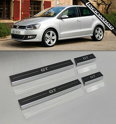 VW Polo Mk5 (2009 - 2017) 4 Door Stainless Sill Protectors / Kick Plates