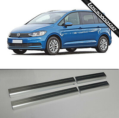 VW Touran Mk3 (Released 2015) Stainless Steel Sill Protectors / Kick Plates