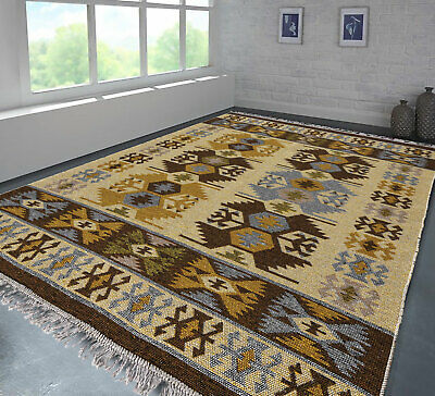 Modern Brown and Beige Rug Super Soft and Beautiful Living Area Rugs Runner Mat