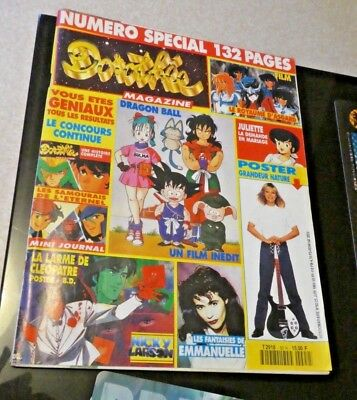 Magazine Club Dorothee Revue Numero Special Dbz City Hunter Poster Complet Rare