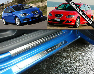 Seat Leon Mk2 (2005 to 2012) Stainless Steel Sill Protectors / Kick Plates