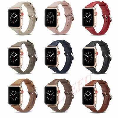 Leather Watch Band Strap Bracelet for iWatch Apple Watch Series 4/3/2 38mm 42mm