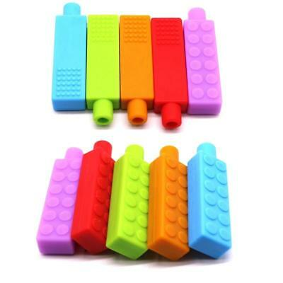 ADHD ASD ANXIETY SENSORY chew Bpa free silicone pencil topper pack lego (4 PCS)