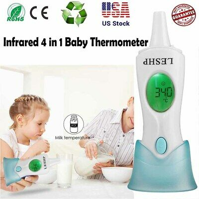 4IN1 Digital Infrared Ear Forehead Thermometer Baby Adult Fever Temperature SA