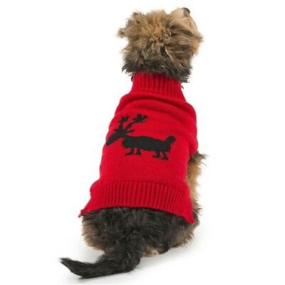 Rudolph Reindeer Christmas Dog Jumper Festive Ancol Warm Novelty Knit Sweater