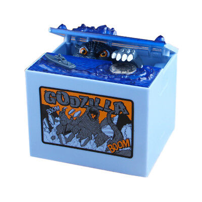 Godzilla Movie Musical Monster Moving Electronic Coin Money Piggy Bank Box Toy