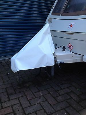 NEW white Waterproof pvc Universal Caravan .camping Towing Hitch Cover- FREE P&p