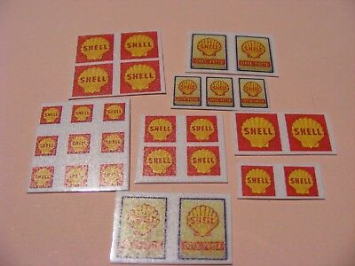 OIL  STICKER COLLECTION   'SHELL ' x 28