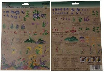 FolkArt One Stroke Reusable Painting Teaching Guide Lot 35 Wild Flowers 1135 NEW