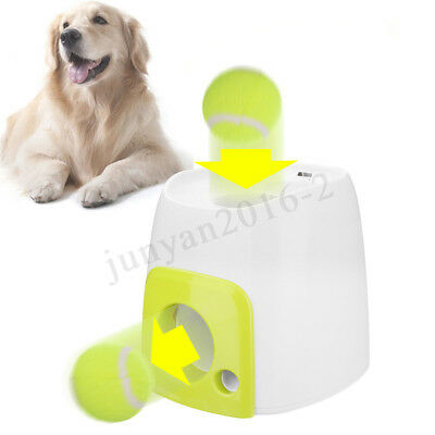 Puppy Pet Dog Automatic Ball Launcher Tennis Ball Thrower Feeding Christmas Toy