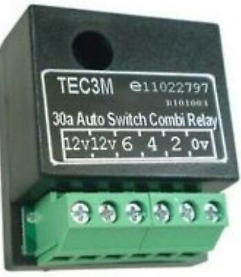 TEC3M 30A Auto Switch Dual Charge Combi Smart Relay, Towing, Caravan, Motorhome