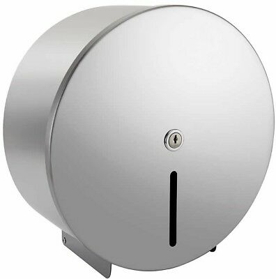 "Toilet Roll Dispenser Jumbo 12"" Wall Mounted Paper Roll Bathroom Polished"