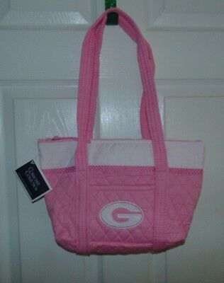 9ad1c8511c NEW Women s Georgia University Purse Tote Shoulder Bag Pink White Quilted
