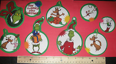 The Grinch Who Stole Christmas Fabric Iron On Appliques - Christmas !!!!