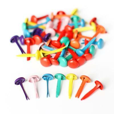 200Pcs Mixed Color Metal Brad Paper Fastener For Scrapbooking Craft 8mm 1Ksd