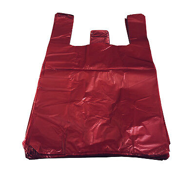 RED Strong Plastic Vest Carrier Bags T Shirt Large and Jumbo 20mu