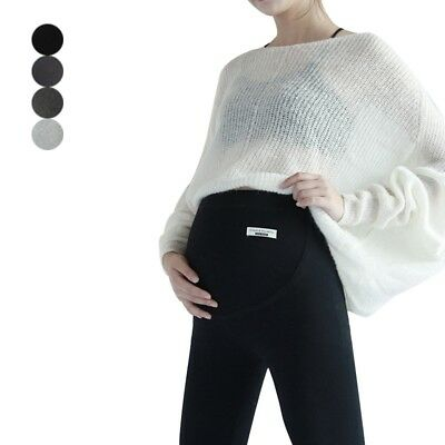 Maternity Winter Warm Pants Soft Slim Belly Support Leggings Elastic Trousers