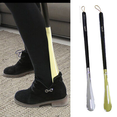 Long Metal Shoe Boot Professional Head Black Wood Handle Shoehorn Shoes 70cm