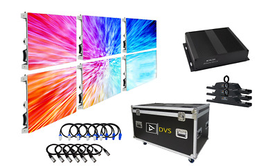 New Turnkey Complete P3 High-Res Led Screen Video Wall 6-Panel System Package