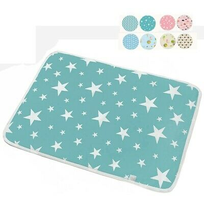 Baby Newborn Urine Pad Waterproof Bed Pad Breathable Cotton Nappy Cover Colorful