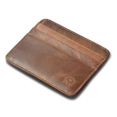 Men's Genuine Leather Thin Wallet ID Money Credit Card Slim Holder Pocket New