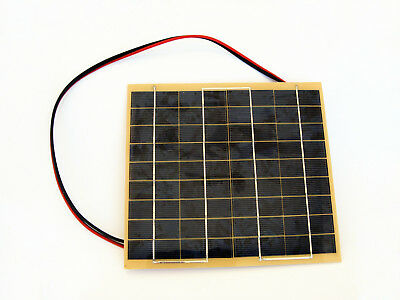 5W Solar Panel w/ Battery Clips Charging 12V Car RV Power Battery Home
