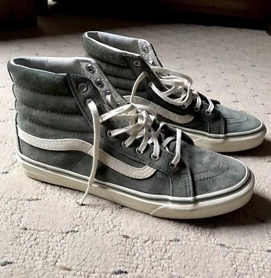 a0110a1349 VANS SK8 HI Suede Scotchgard Olive Green Sneakers Mens 7 Womens 8.5 ...