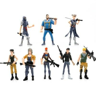#A# 8Pcs Fortnite Character Toy Game 4.5IN Figure Playset Model Christmas Gift