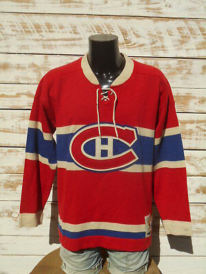 MONTREAL CANADIENS Jersey Maillot Reebok By Roger Edwards NHL Vintage Hockey RBK