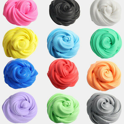 Rainbow Moulding Fluffy Floam Putty Plasticine Slime Stress Relief Kids Toy UK