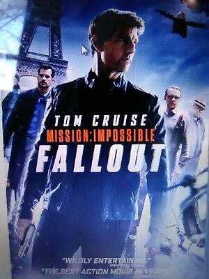mission impossible-fallout bluray only or dvd (read description)12/4 preorder