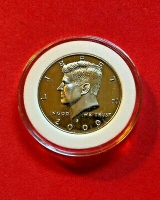 1992 S Kennedy Half Dollar 90% Silver Deep Cameo Proof In Capsule From Proof Set