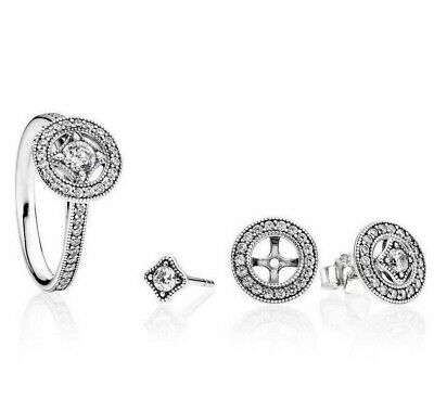 Solid 925 silver sterling Luxury Sparkling vintage Allure Ring + gift pouch