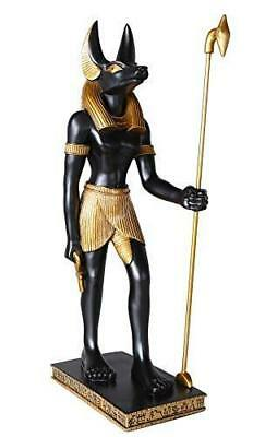 "Large 20""H Anubis Egyptian God of Underworld Statue Indoor Collectible"