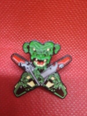 CoolerThe METEORS  Metal Pin Psychobilly Chainsaw Monkey