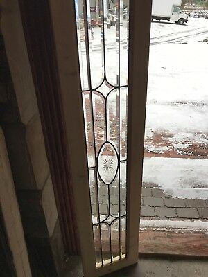 SG 2652 antique all beveled glass transom window 12.75 x 58
