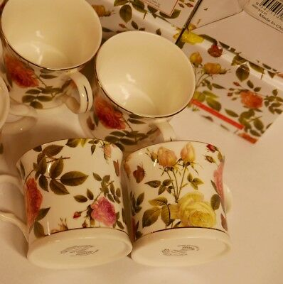 Palace Fine Bone China Tea Coffee Cup Stoke-On-Trent England set4 Butterfly Rose