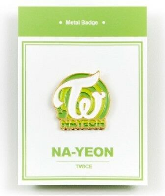 K-POP TWICE Official Goods Nayeon Metal bedge free shipping