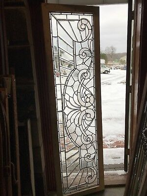 SG 2655 antique textured beveled Jeweled transom window 22.25 x 81