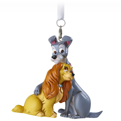Disney Parks Lady and the Tramp Hugging Figural Ornament