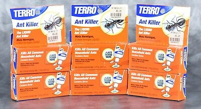 Terro Ant Killer Liquid 1.0 FL OZ Lot of 6 Packs Indoor/Outdoor Pest L12