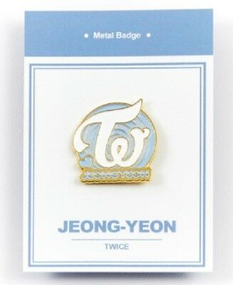 K-POP TWICE Official Goods Jungyeon Metal bedge free shipping