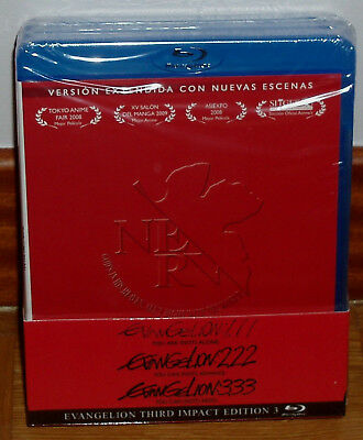 Evangelion 1.11-2.22-3.33 You Are-You Can (Not) Redo-Advance Blu-Ray Nuevo R2