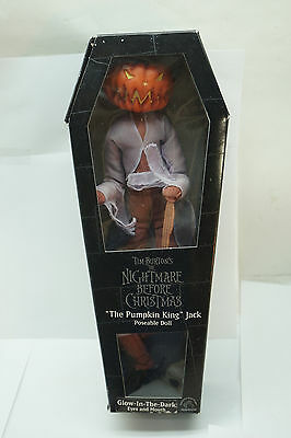 NIGHTMARE BEFORE CHRISTMAS FIGURE PUMPKIN KING JACK APPLAUSE 12in DOLL BOX GLOW