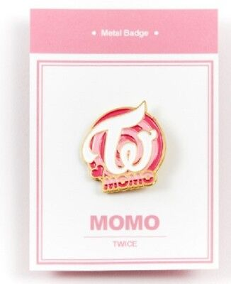 K-POP TWICE Official Goods Momo Metal bedge free shipping