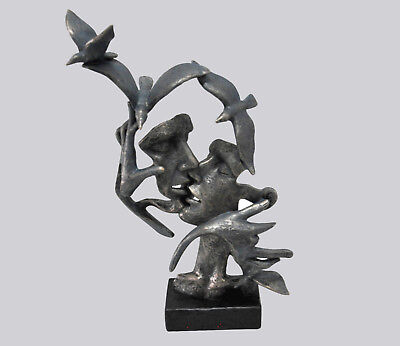Abstract Modern Art Kissing Couple Sculpture Statue Figurine Figure Gift Decor