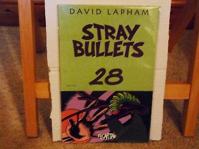 Stray Bullets #28 (David Lapham, 1st Print, 2002, El Capitan) Rare Comic in VFN
