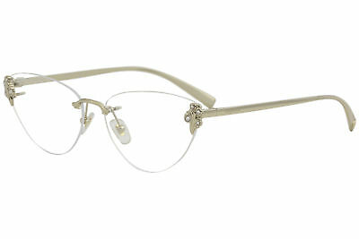 Versace Eyeglasses VE1254B VE/1254/B 1252 Pale Gold Rimless Optical Frame 56mm