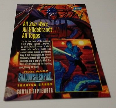 SIGNED - 1996 Topps Star Wars Shadows of the Empire Promo Card - Hildebrandt