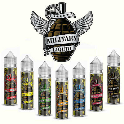 Military Liquid - Shortfill Aroma - Shake and Vape E-Liquid 10ml in 60ml Flasche